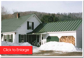 House with a Green Metal Roof